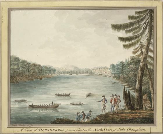 A painting of Lake Champlain