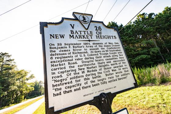 New Market Heights Marker