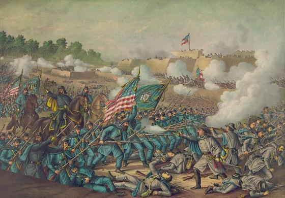 Battle of Williamsburg. Gen. Hancock's charge, May 5, 1862. Library of Congress.