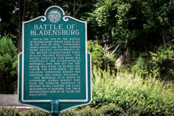 Battle of Bladensburg Site Marker