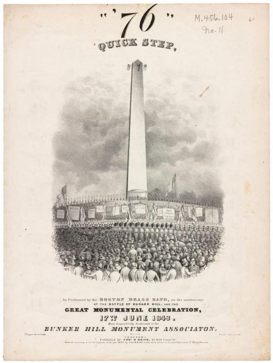 Bunker Hill Monument Dedication Illustration