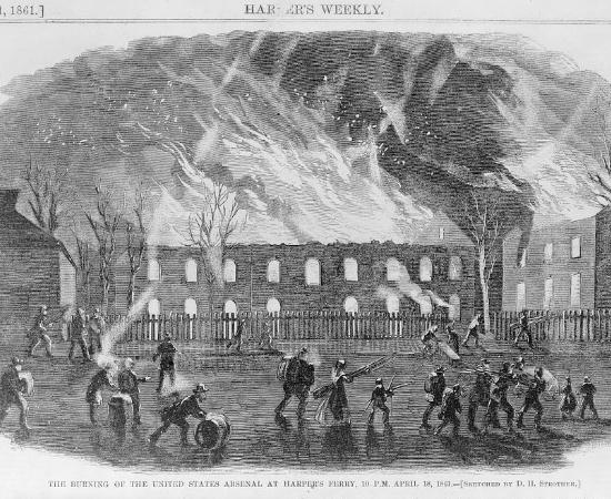 Burning the Arsenal at Harpers Ferry