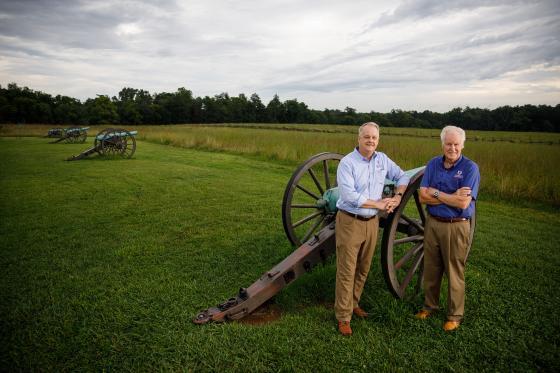 David Duncan and Jim Lighthizer standing together at Manassas