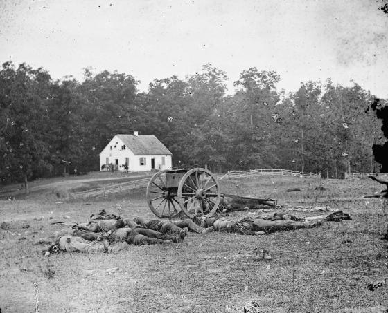 Confederate Dead Before the Dunker Church