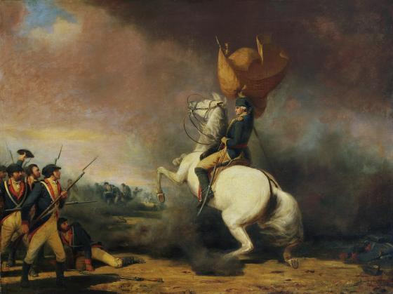 George Washing at Battle of Princeton.jpg