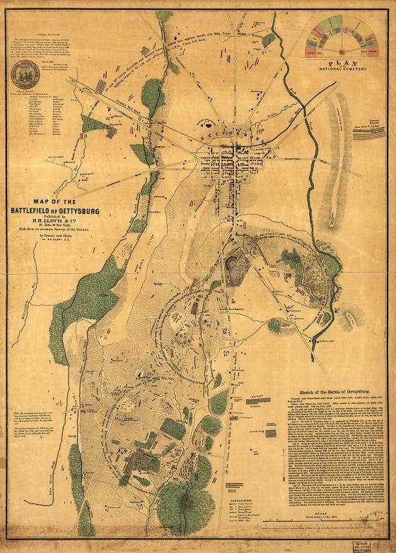 Gettysburg Elliott Map
