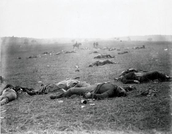 Union dead after the Battle of Gettysburg