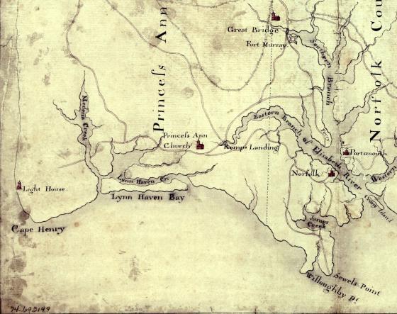 Norfolk map 1775