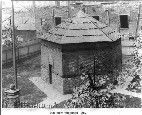 Photo of a stone blockhouse.