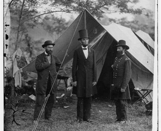 Pinkerton Lincoln and McClernand near Antietam