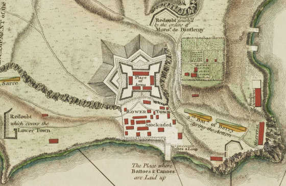 Map of a fort.