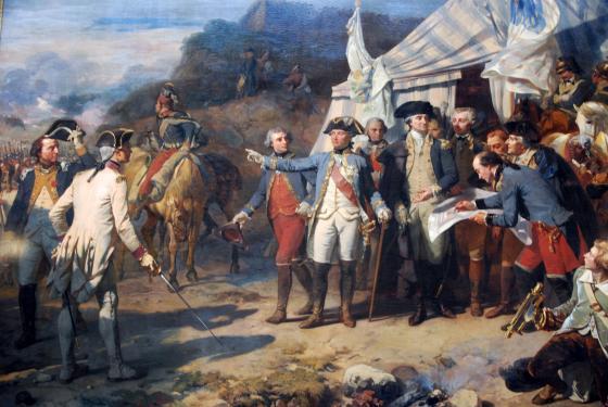 Siege of Yorktown by Couder (Versailles)
