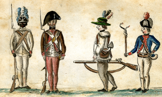 American foot soldiers during the Yorktown campaign, 1781