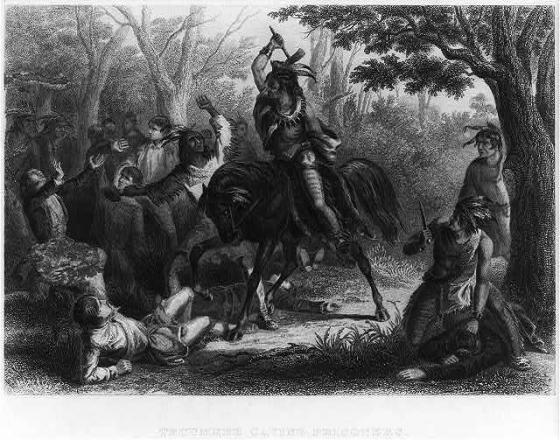 Tecumseh saving prisoners