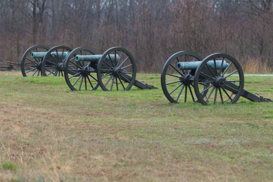 Cannons at Pea Ridge