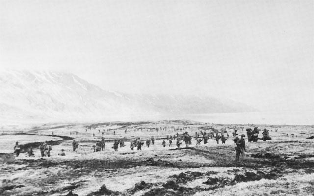 4th Infantry landing at Attu
