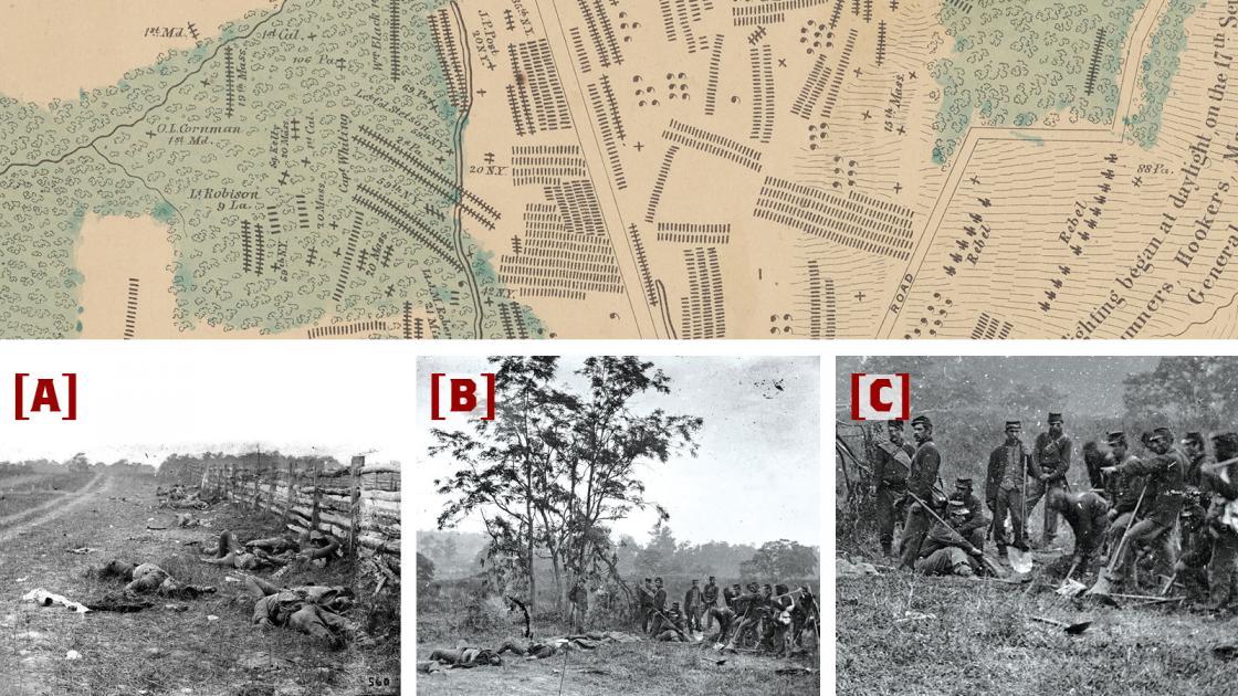 Antietam Hagerstown Pike in Photos and Elliott Map