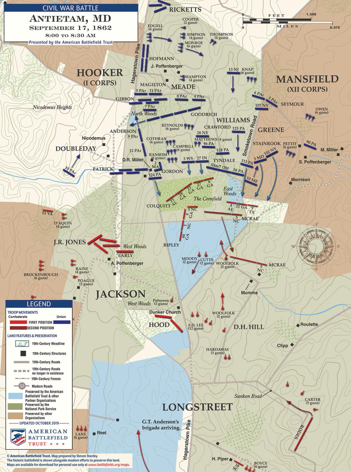 Antietam - Cornfield - September 17, 1862 - 8:00-8:30am (November 2019)