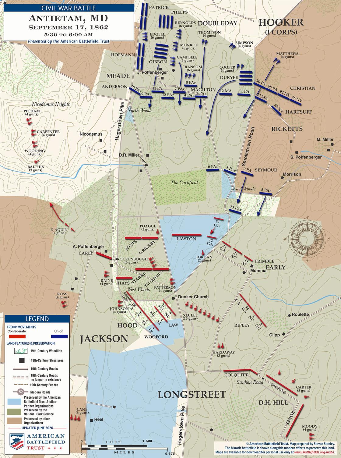 Antietam - East Woods - September 18, 1862 - 5:30am to 600am (June 2020)