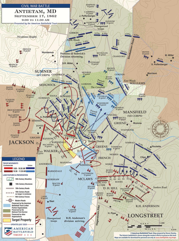 Antietam - The West Woods - September 17, 1862 - 9am to 11:30am (July 2020)