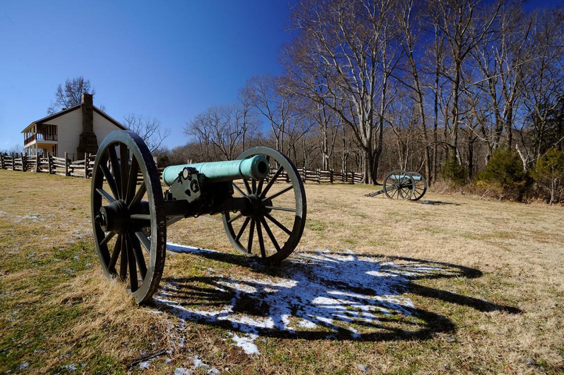 Artillery at Elkhorn Tavern