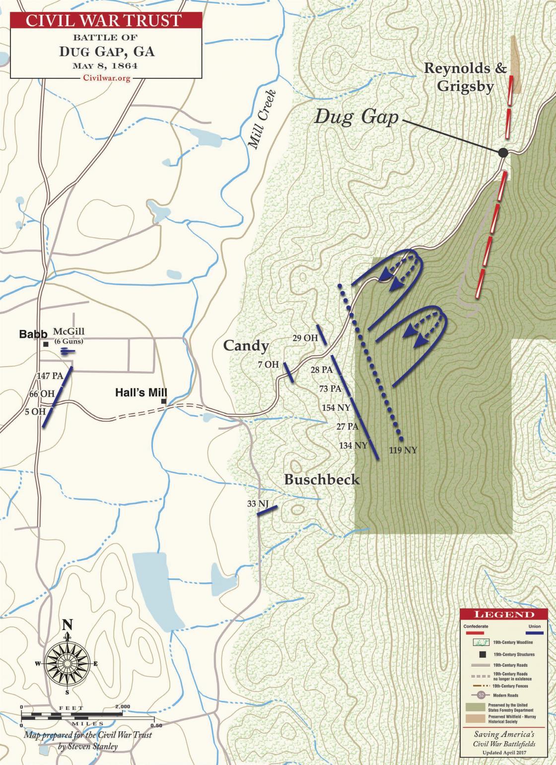 Battle of Dug Gap - May 8, 1864
