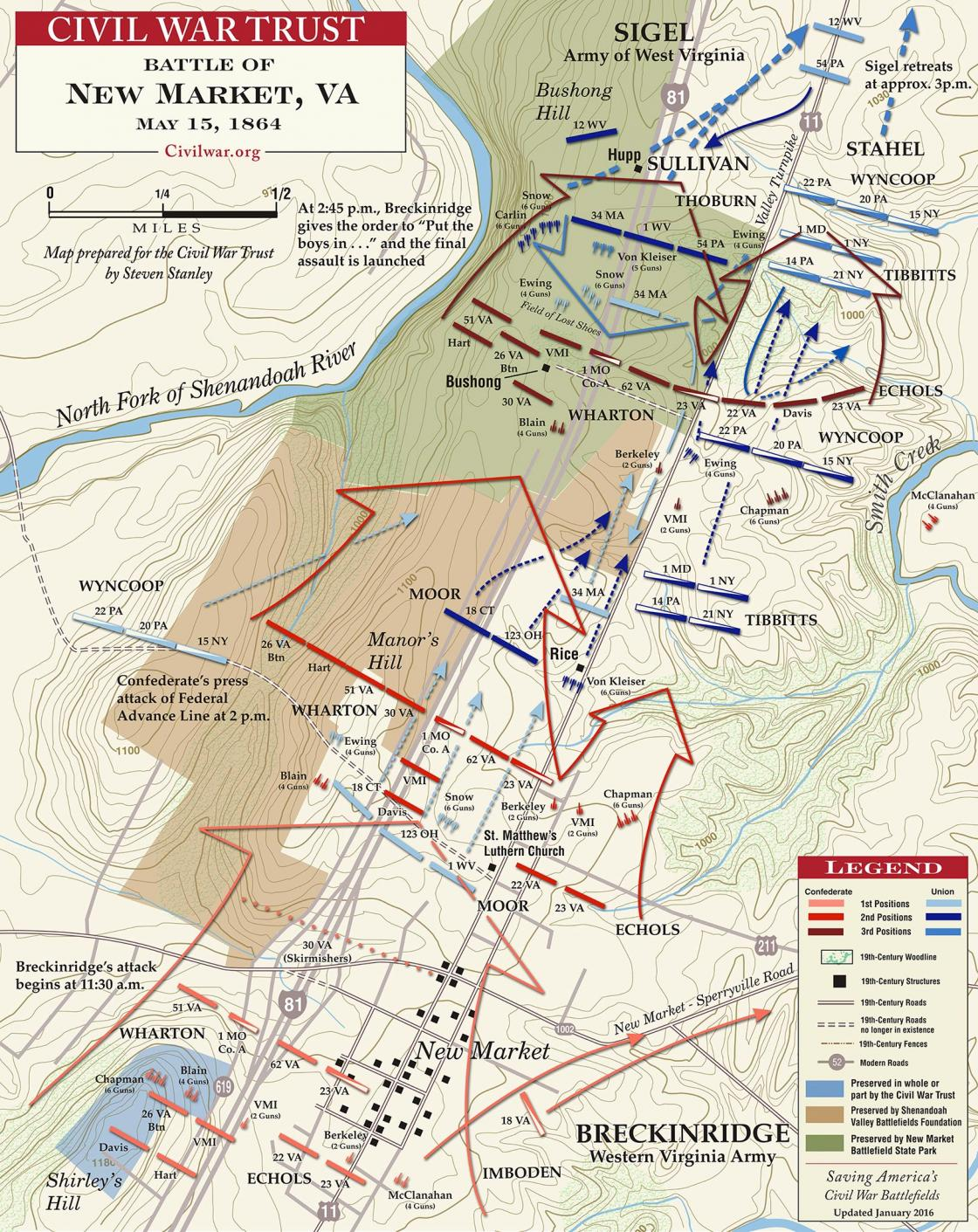 The Battle of New Market - May 15, 1864
