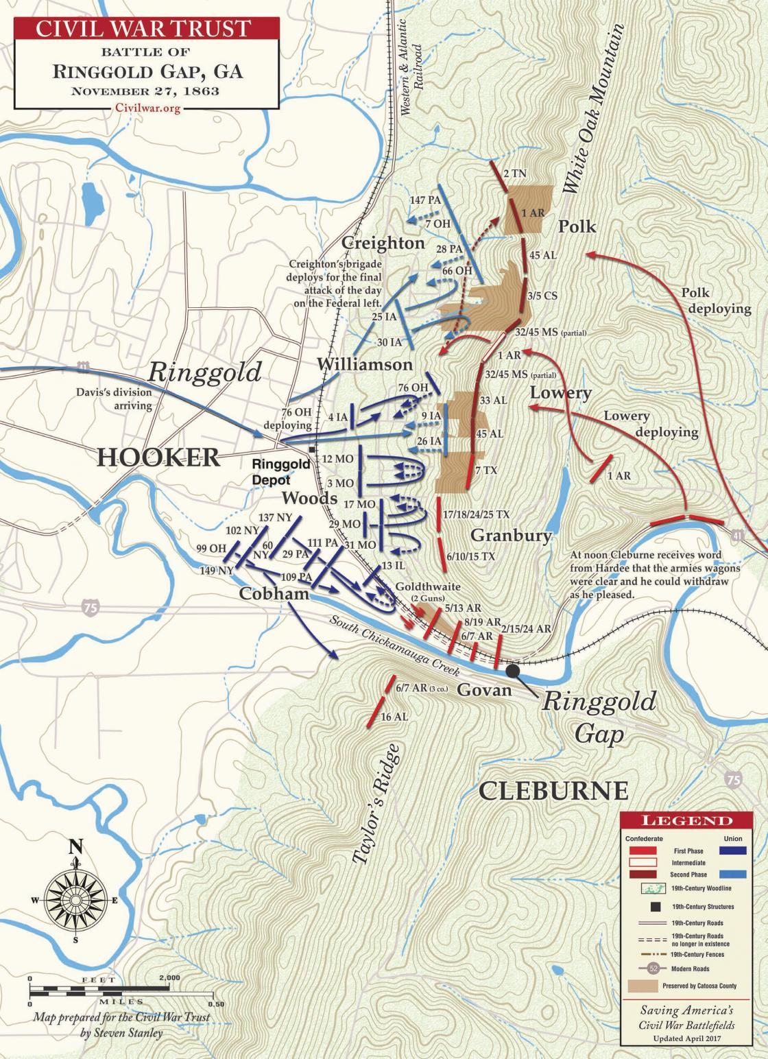 Battle of Ringgold Gap - November 27, 1863