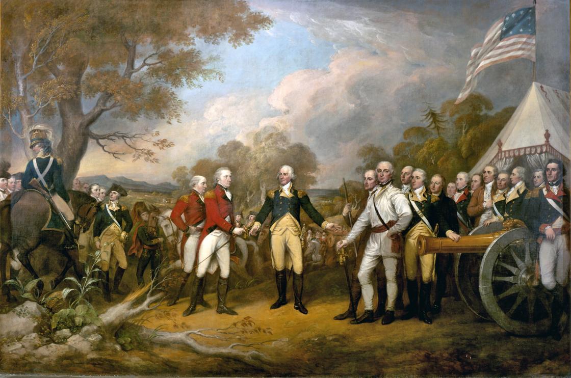 Battle of Saratoga - Surrender of General Burgoyne