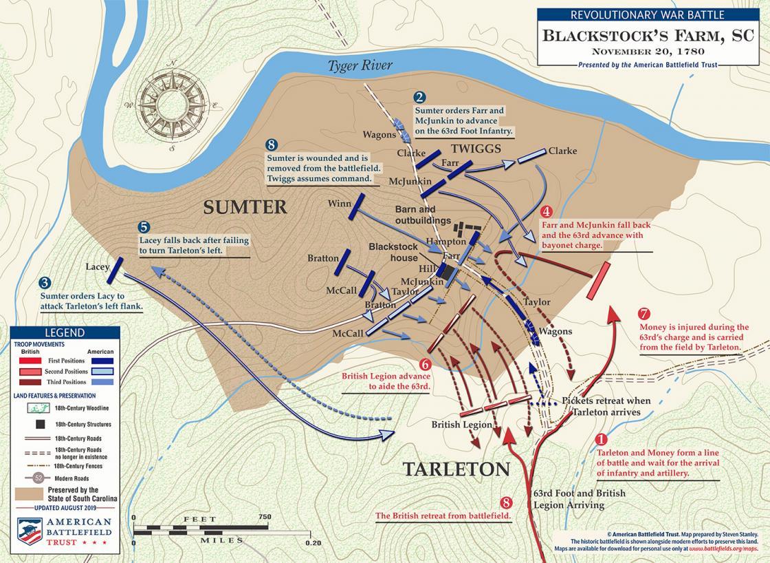 Battle of Blackstock's Farm - November 20, 1780 (August 2019)