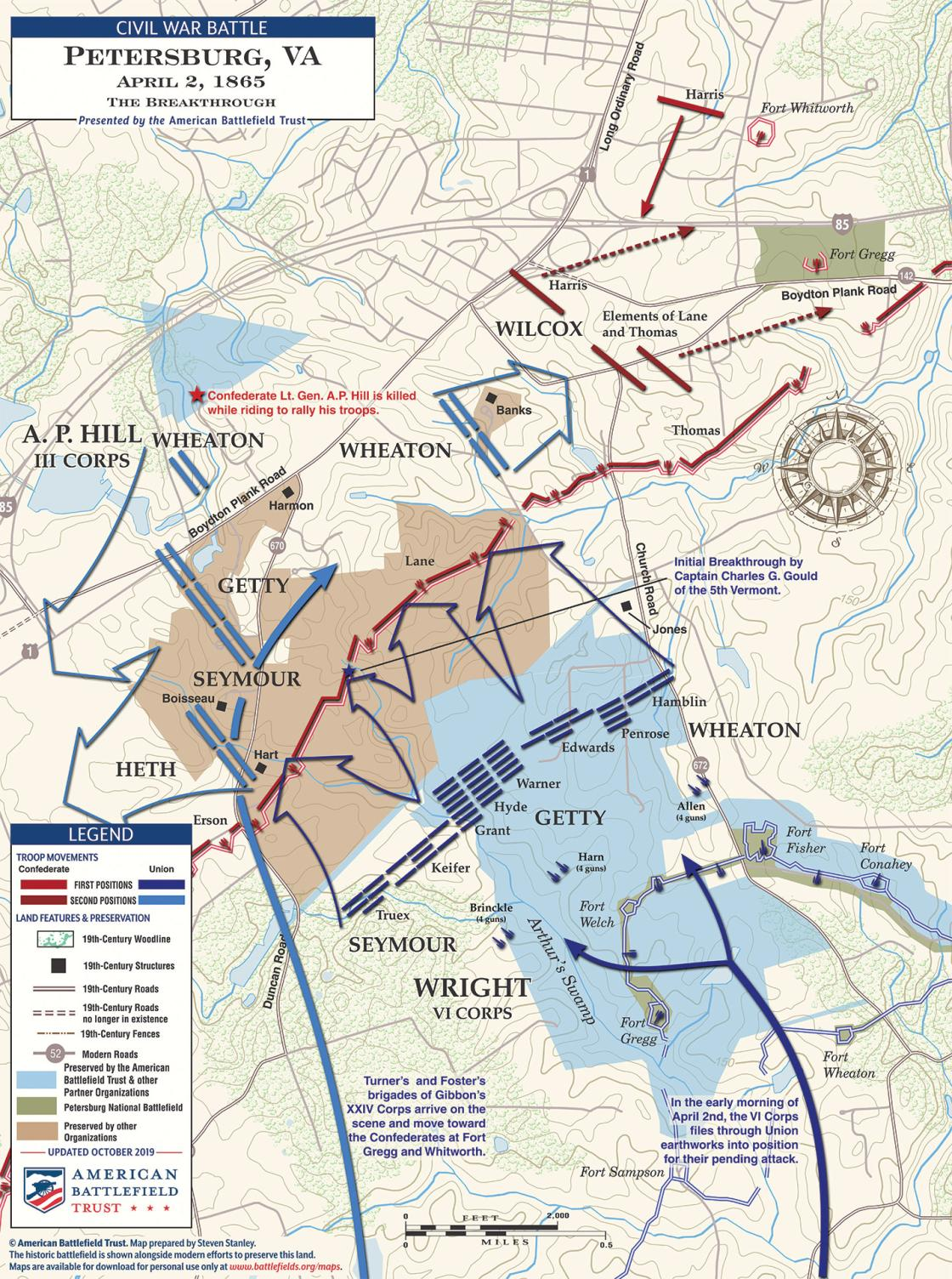 Breakthrough at Petersburg - April 2, 1865 (October 2019)