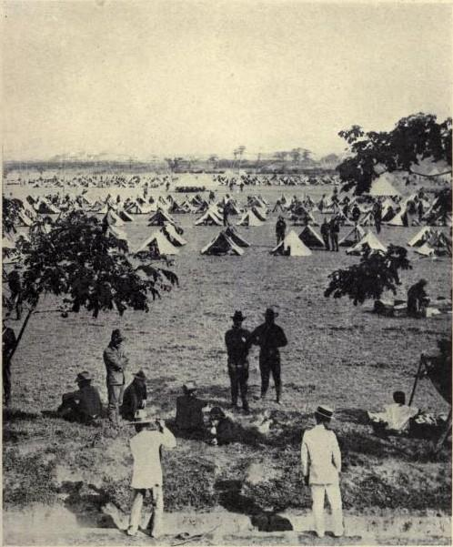 Camp of 4th Infantry on the Luneta in Manila