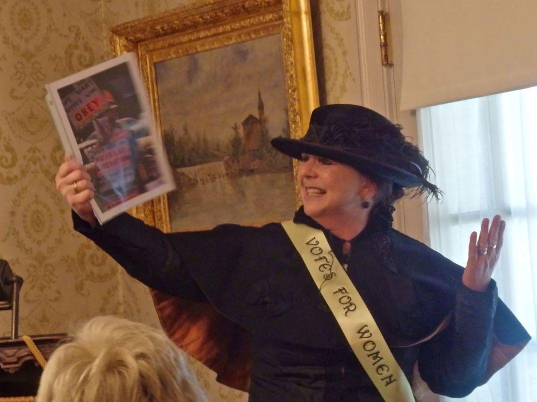 Carolyn Ivanoff Suffragette