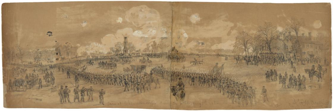Alfred Waud Chancellorsville