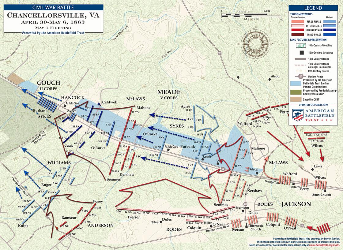 Chancellorsville - May 1, 1863 (August 2019)
