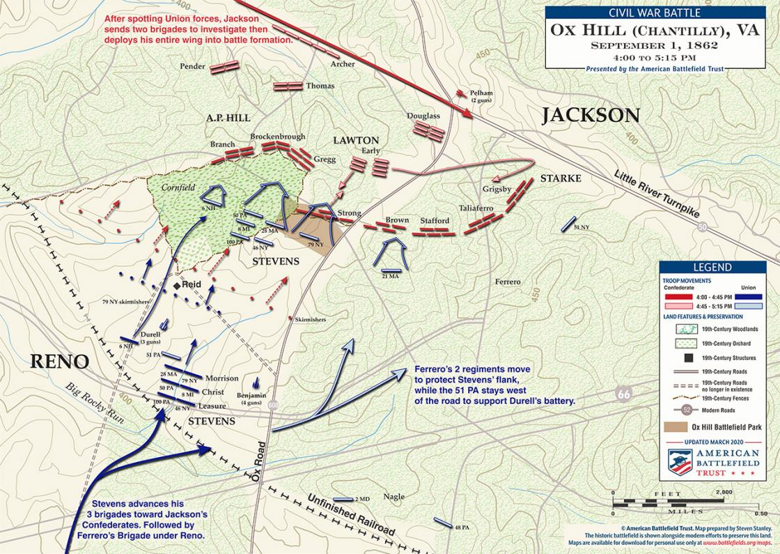 Chantilly (Ox Hill) - September 1, 1862 - 4:00 to 5:15 pm (June 2020)