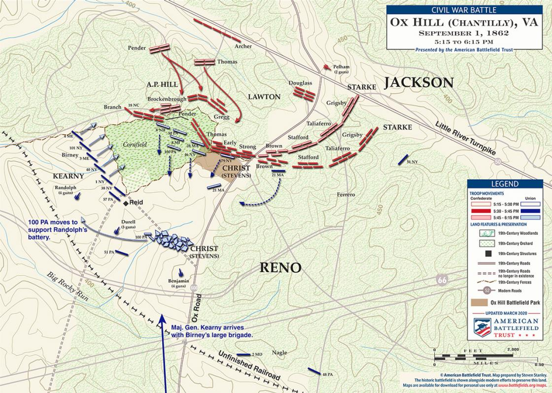 Chantilly (Ox Hill) - September 1, 1862 - 5:30 to 6:15 pm (June 2020)
