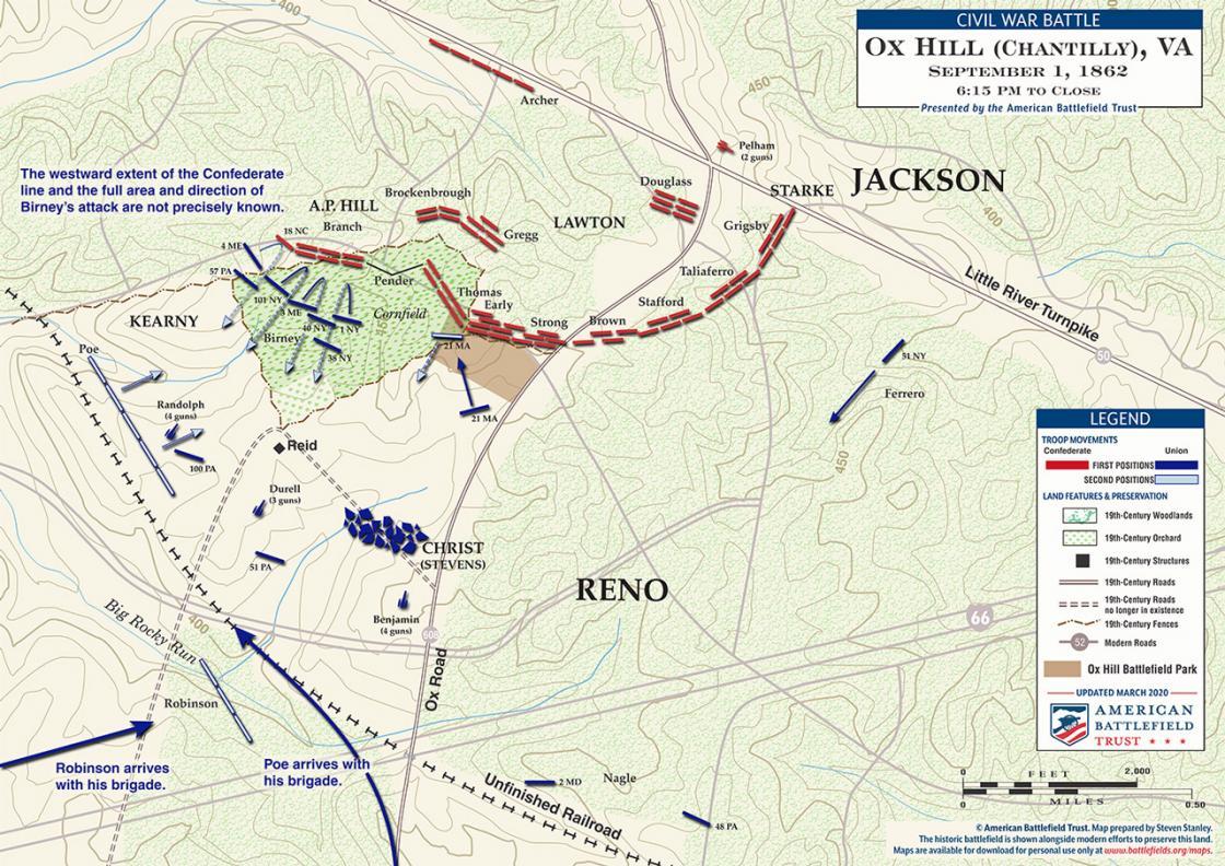 Chantilly (Ox Hill) - September 1, 1862 - 6:30 pm - close of battle (June 2020)