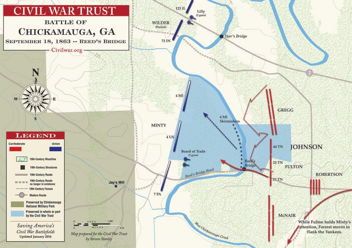 Chickamauga - Reed's Bridge - September 18, 1863