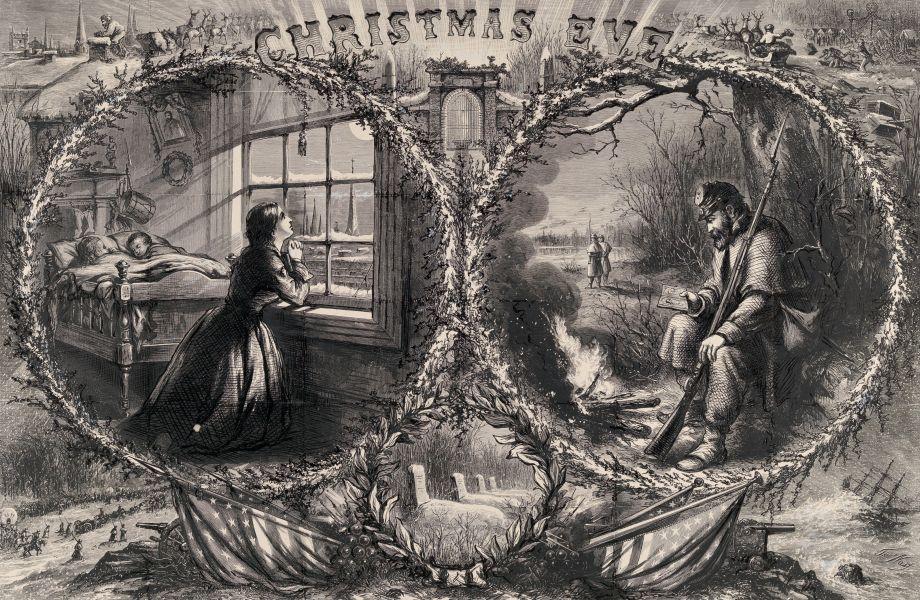 """Christmas Eve"" Harper's Weekly, January 3, 1863"
