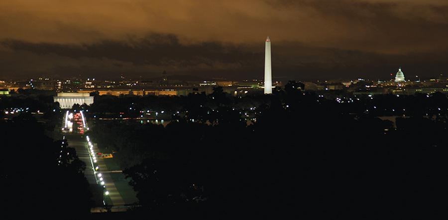 Washington DC from Grand Review event in 2008