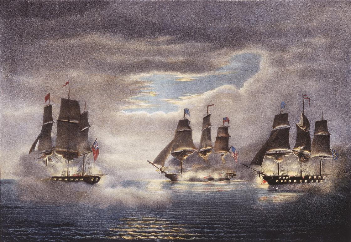 USS Constitution vs. HMS Cyane and HMS Levant