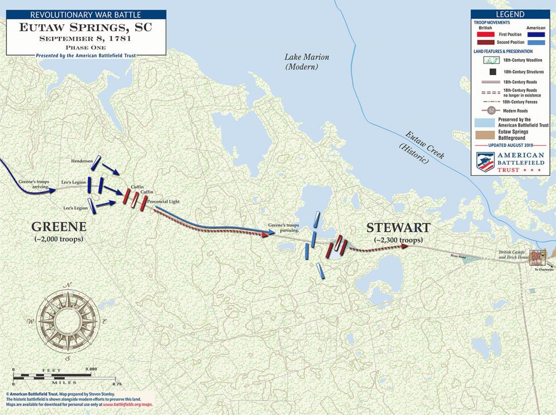 Eutaw Springs - September-8, 1781 - Phase 1 (August 2019)
