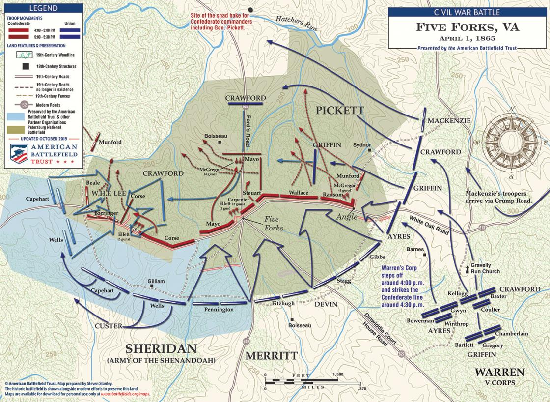 Battle of Five Forks - April 1, 1865 (October 2019)