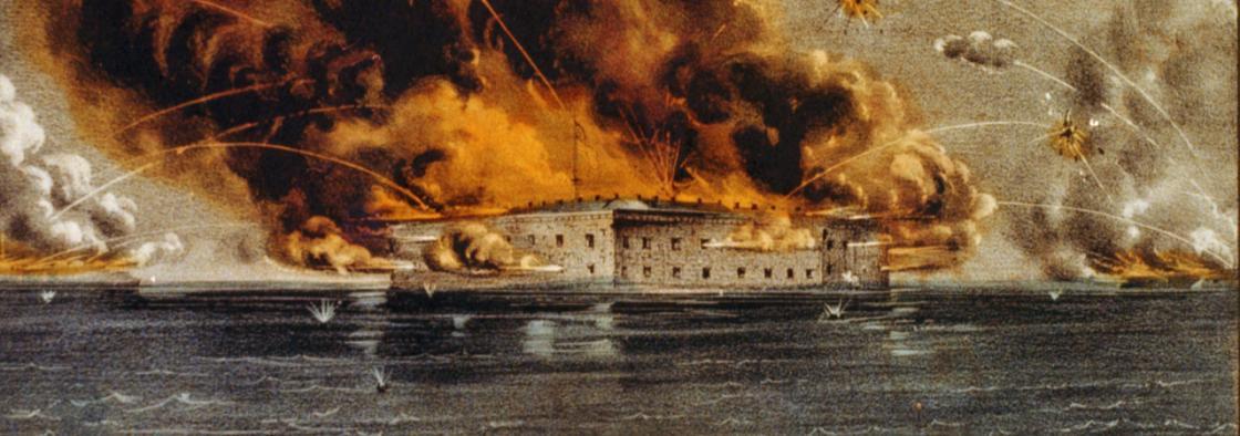 Fort Sumter Ablaze