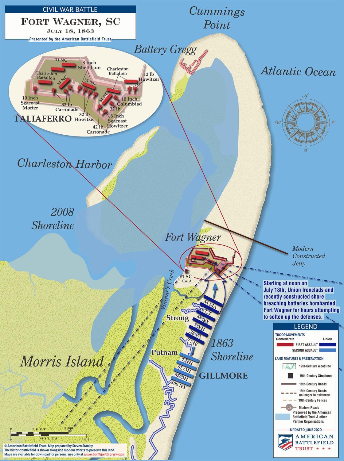 Assault on Fort Wagner, South Carolina - July 18, 1863 (June 2020)