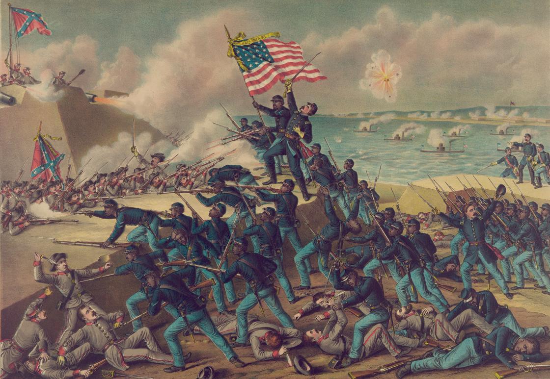 Fort Wagner 54th Massachusetts Painting