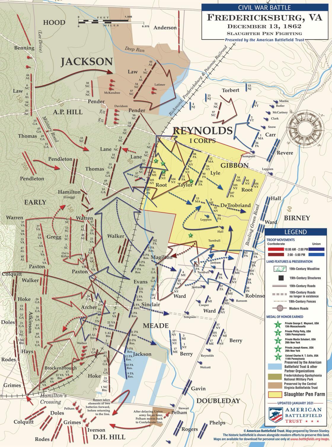 Fredericksburg - Slaughter Pen Fighting - December 13, 1862 (January 2021)