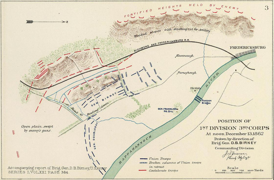 Fredericksburg map from the David Rumsey Collection