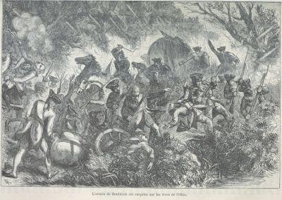 French and Indian War Engraving
